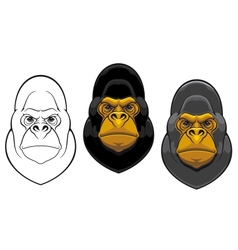 Danger gorilla monkey mascot vector