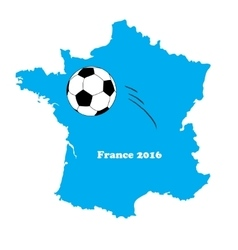 france map with football ball vector image vector image