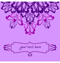 Lilac ornate background vector image