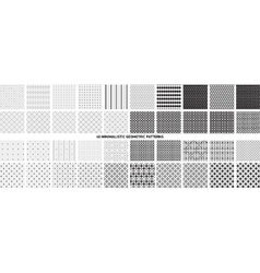 Minimalistic geometric patterns vector image