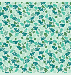 natural leaves pattern texture element on green vector image vector image