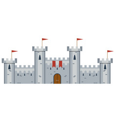 of medieval castle vector image vector image