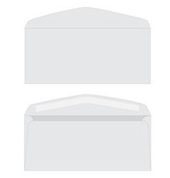 White envelope set vector image