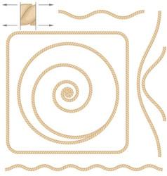 beige rope elements vector image vector image