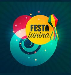 Brazilian june part festival of festa junina vector