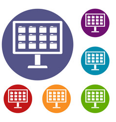 desktop of computer with folders icons set vector image vector image