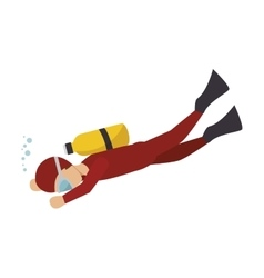 diver sport man vector image