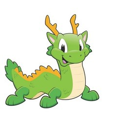 Green Chinese Dragon vector image