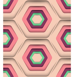Honeycomb Spring Colors Seamless Pattern vector image vector image