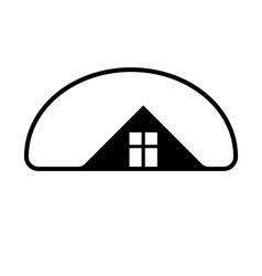 Property developer stylish estate agency symbol vector image