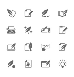 Simple Writing icons vector image vector image