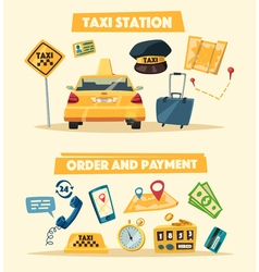 Taxi service cartoon vector