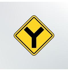 Y Intersection icon vector image vector image