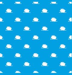 broken piggy bank pattern seamless blue vector image