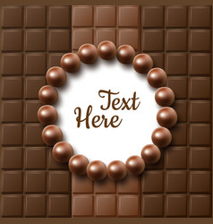 Chocolate flat lay vector