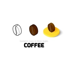 Coffee icon in different style vector image