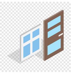 door and window isometric icon vector image