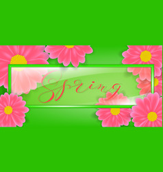 glass frame with lettering vector image vector image