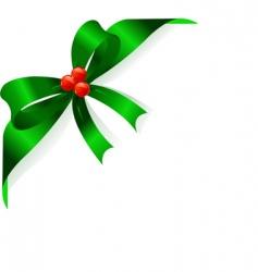 green ribbon vector image vector image