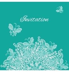 invitation Blue background vector image