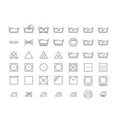 Laundry Icon Thin Line Set vector image