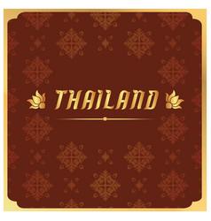 thailand thai design red background image vector image