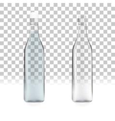 transparent empty bottles vector image