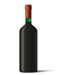 Wine bottle on white background vector image