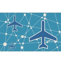 Banner with the image of an aircraft icon vector image