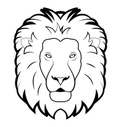 black and white of lion vector image vector image