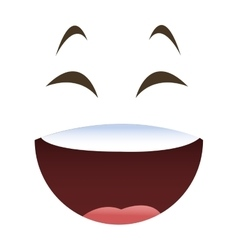 laughing emoticon face icons vector image vector image