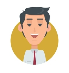Successful Man Avatar Button Happy Male Emotion vector image