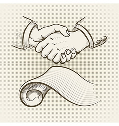 The agreement vector image vector image