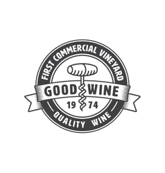 Vintage winery label vector image vector image