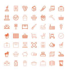 49 box icons vector image