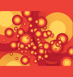 abstract retro orange circle background vector image