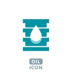 Barrel oil icon vector image