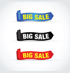 Big sale sign set vector