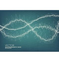 Blueeprint style radio background vector image