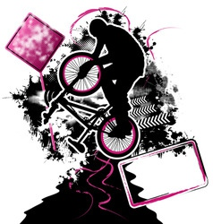 bmx cyclist template vector vector image