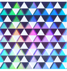 bright triangles pattern with grunge effect vector image