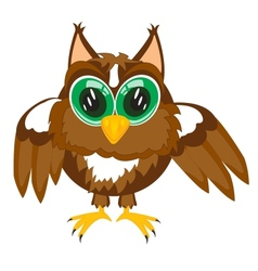 Cartoon of the owl on white vector