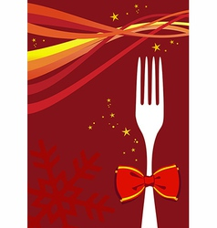 Christmas cutlery background vector image