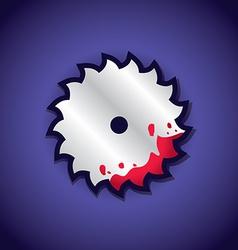 Circular saw label vector