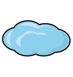 Cloudy weather image vector