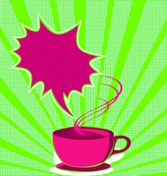 Coffee poster pop art style vector
