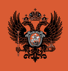 colorful coat arms russian empire vector image