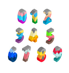 Colorful multilayer numbers in isometric vector