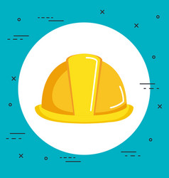 Construction helmet icon hard hat builder vector