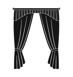 Cornice single icon in black stylecornice vector